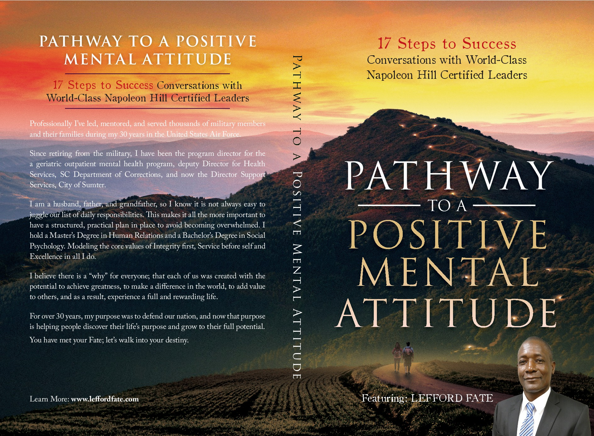 """Design a book cover for """"Pathway to a Positive Mental Attitude:  17 Steps to Success"""""""