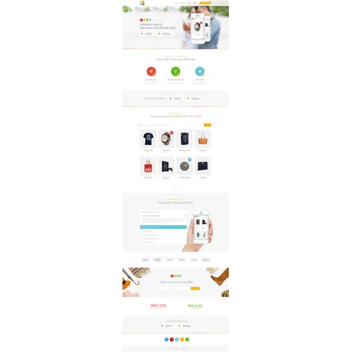 Website design for RAKUTEN RAKUMA
