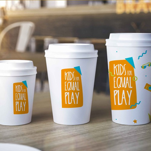 Logo and brand-kit for 'Kids for equal play'