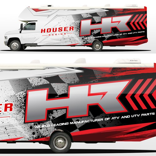 Trailer wrap for Houser racing
