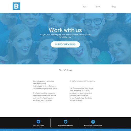 Career page design