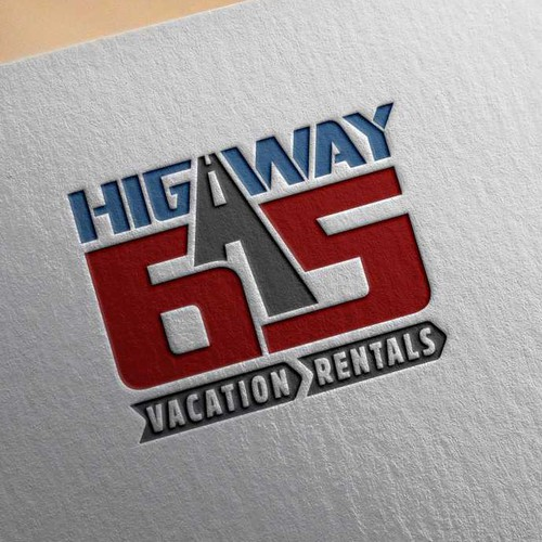 Logo concept for Highway 65 roadside motel