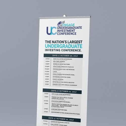 The Nation's Largest Undergraduate Investing Conference Signage