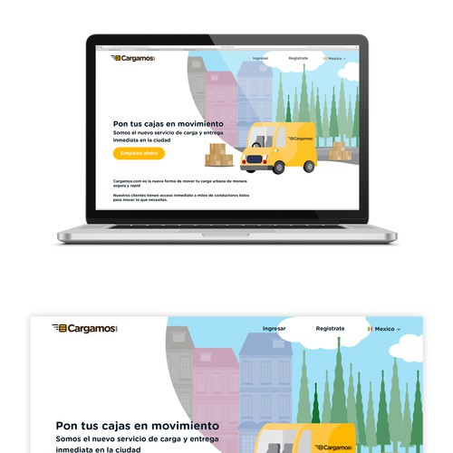 Website UI and UX design for a cargo company