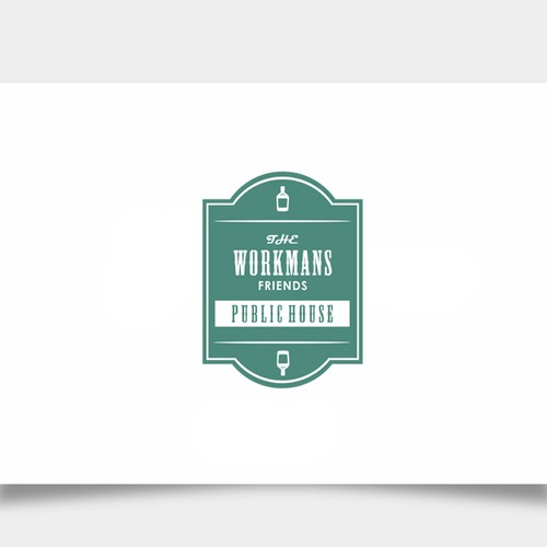 Warm inviting simple Pub Logo.