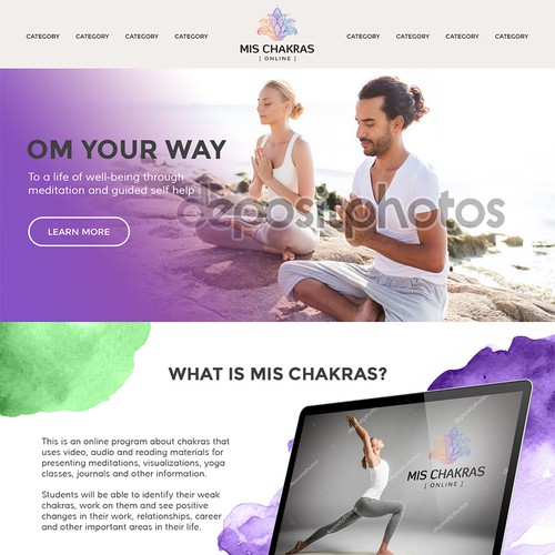 Colorful Website Design for Chakras Program