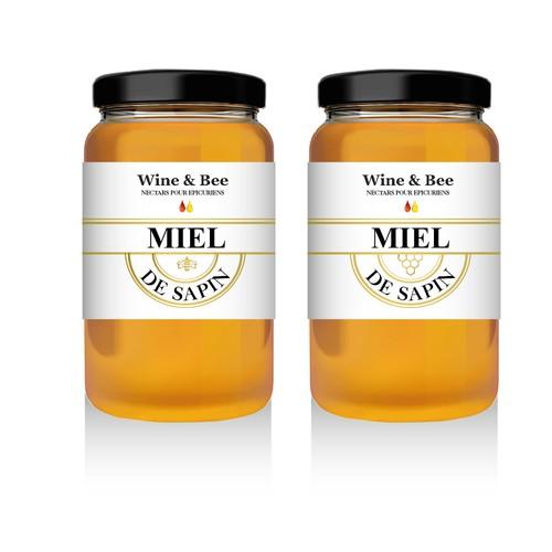Créer des étiquettes pour une nouvelle marque française de miel !