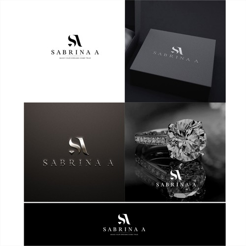 SABRINA A for best luxury diamond/jewelry logo