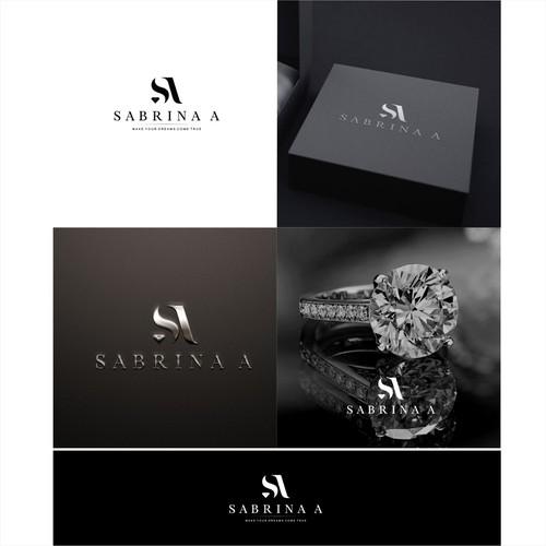 SABRINA A for best luxury diamond/jewelry logo