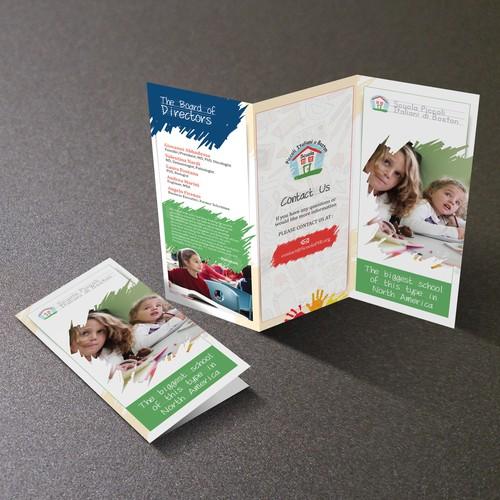 Scoula Piccoli Italiani di Boston (Brochure design)