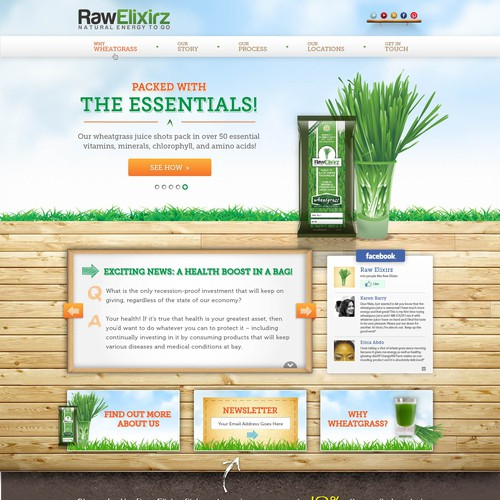 Help Raw Elixirz with a new website design