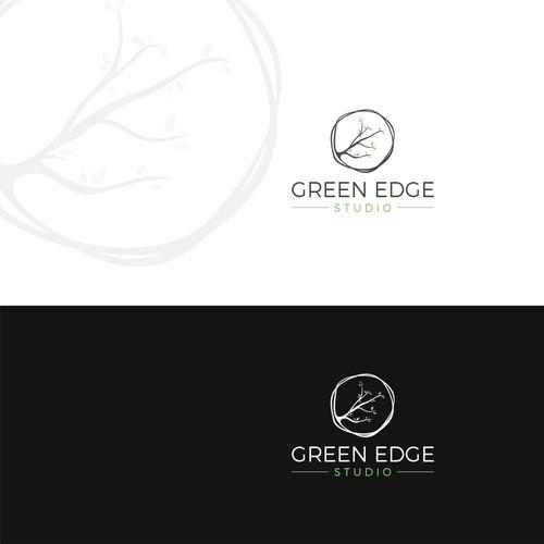 Green edge logo design