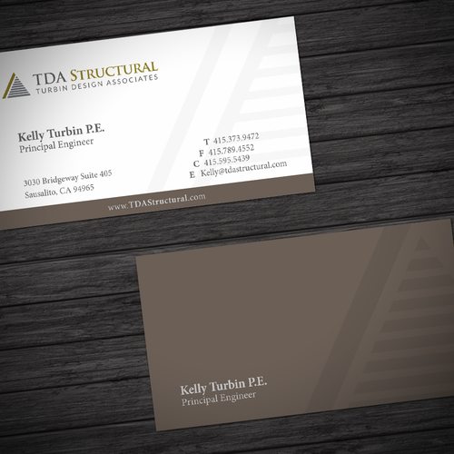 Modern Professional Business Card for a Structural Engineering Company