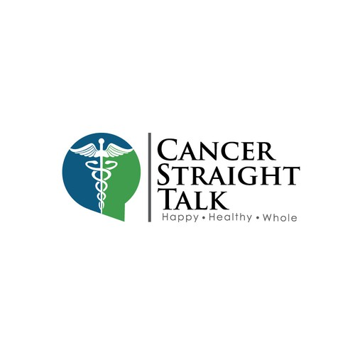 Logo design for a business that's all about helping and educating cancer patients.