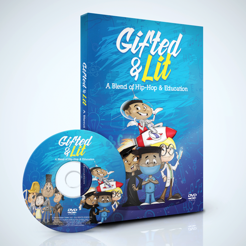 Fun DVD cover design for kids educational series