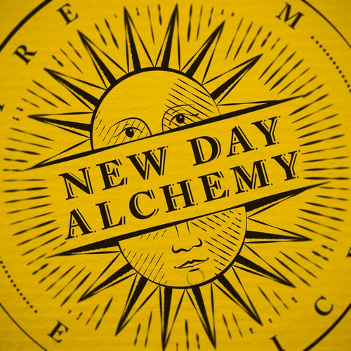 New Day Alchemy Logo. finesse , mystery, and playfulness all in one?