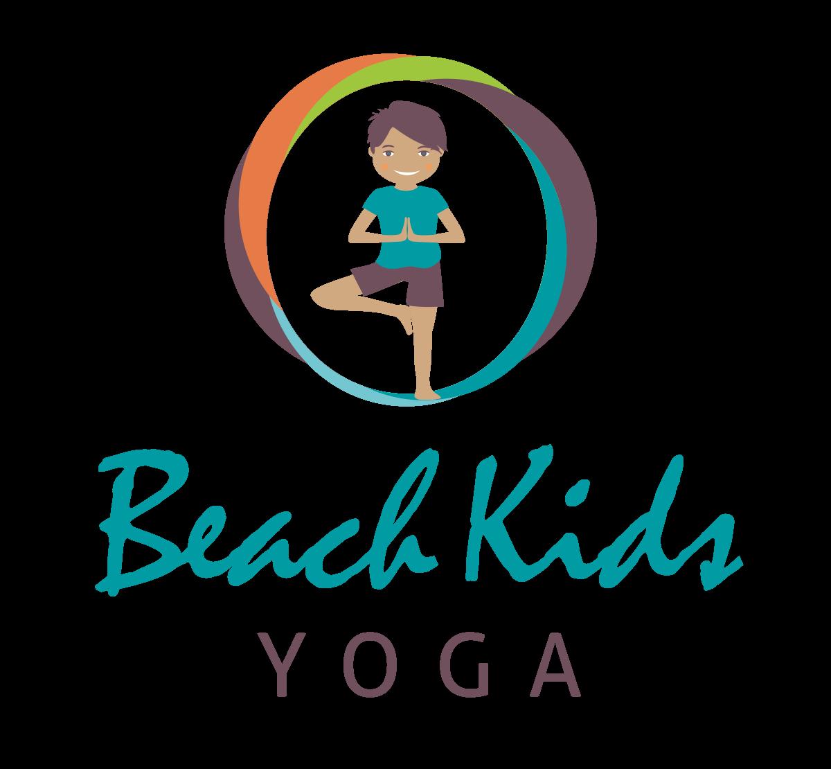 Beach Kids Yoga Logo Design