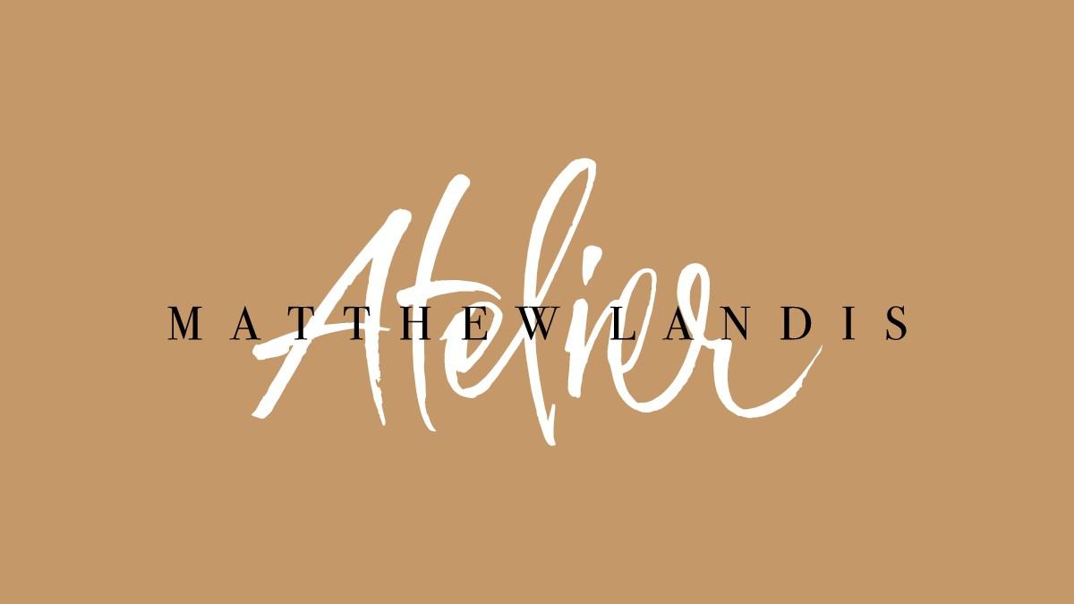 """Logo for a Luxury """"Kerastase"""" Hair Salon called """"Matthew Landis Atelier"""""""