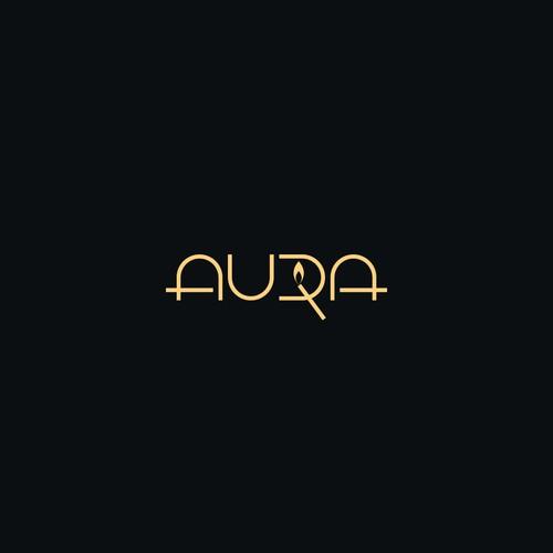 Aura handmade candles logo
