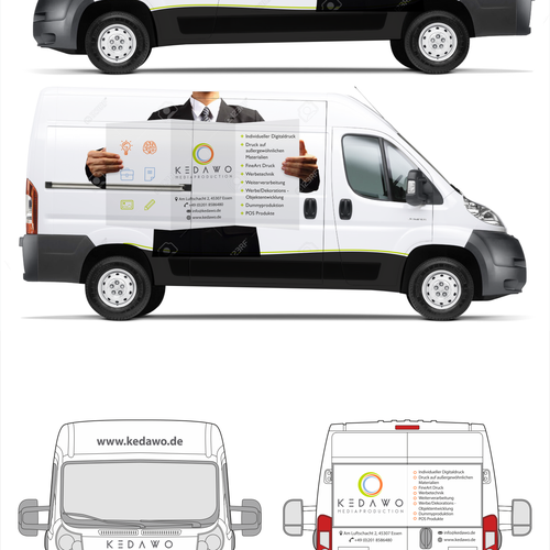 Car design for a creative printing company