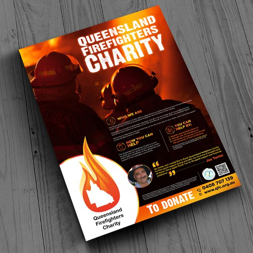 99nonprofits: Help create a poster for Firefighters Charity
