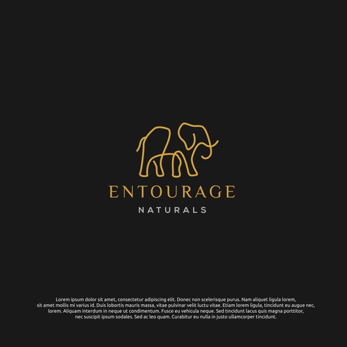 logo concept for entourage naturals