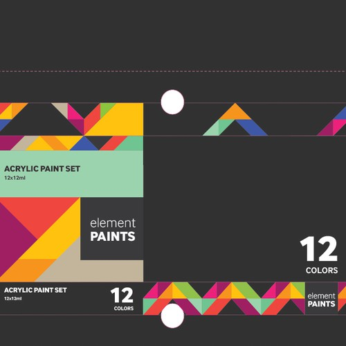 Packaging for Acrylic Paint Sets