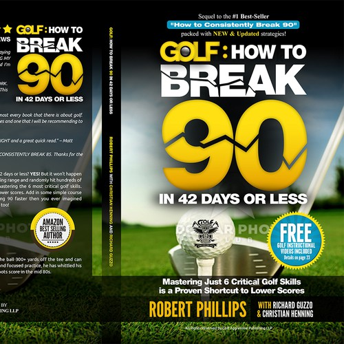Kindle and CreateSpace book covers needed for Golf: How to Consistently Break 90 II