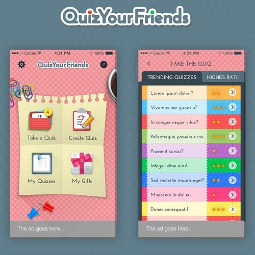 Quiz app design