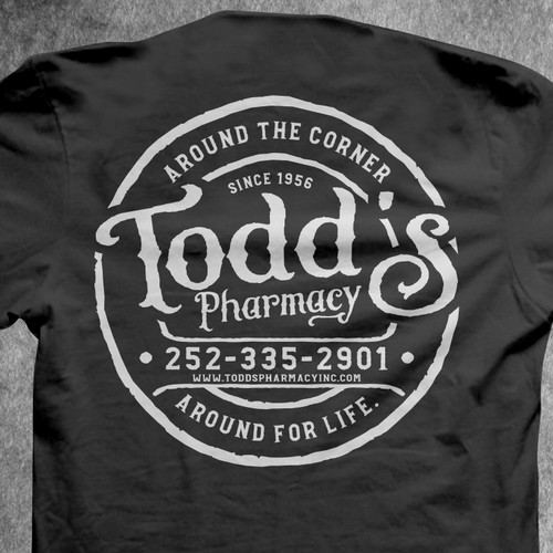 Todd's Pharmacy Tee design