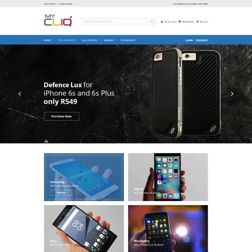 Cliq ecommerce mobile design website