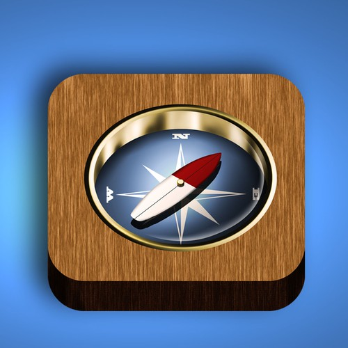 iPhone/iPad Icon for Map App - for Surfers and Other Adventure Types