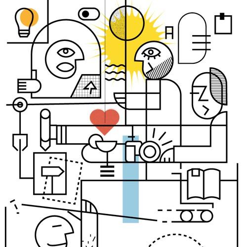 Graphics and cards for Unternehmen Menschenerfolg