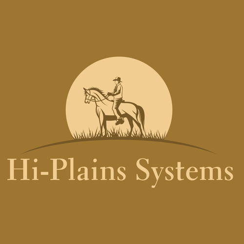 Simple and professonal logo design for Hi Plains Systems agriculture company.