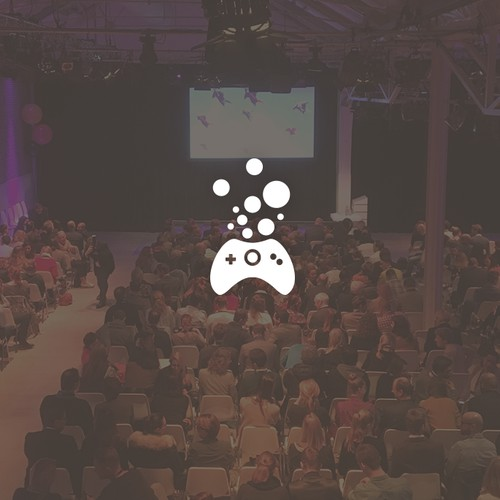 Playful and friendly logo design for a Game Developers conference