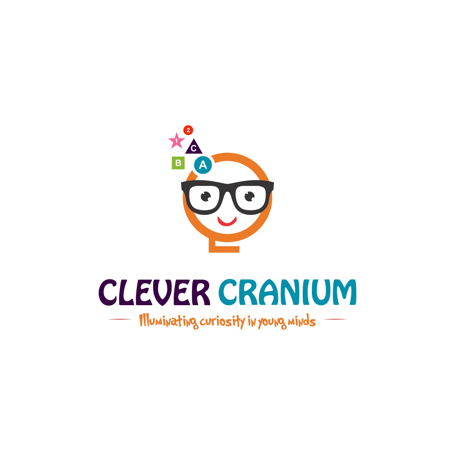 Create a fun and smart logo for Clever Cranium