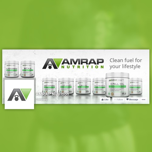 Facebook cover for nutrition company