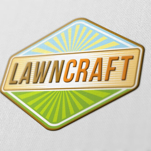 Winning design for LawnCaft logo contest.