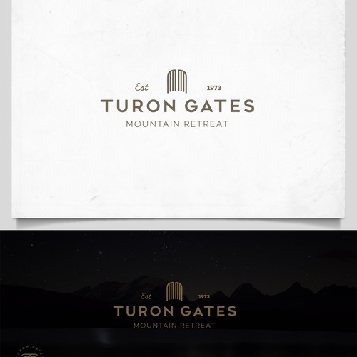 Luxury hip logo for Turon Gates