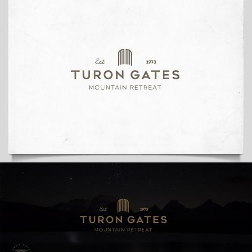 Luxury hip logo for Turon Gates