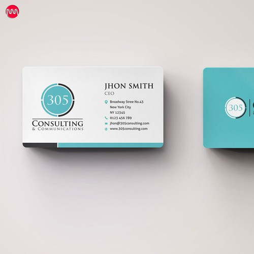 New business card wanted for 305 Consulting & Communications