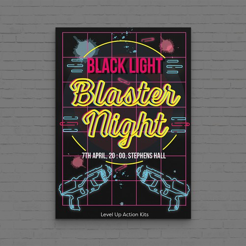 Laser Party Poster