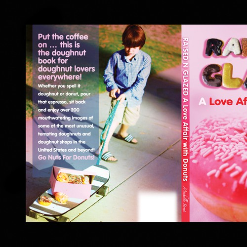 book or magazine cover for RAISED N GLAZED, a book about Donuts by Donut Wagon Press