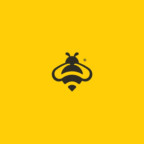 bee bike sharing logo design
