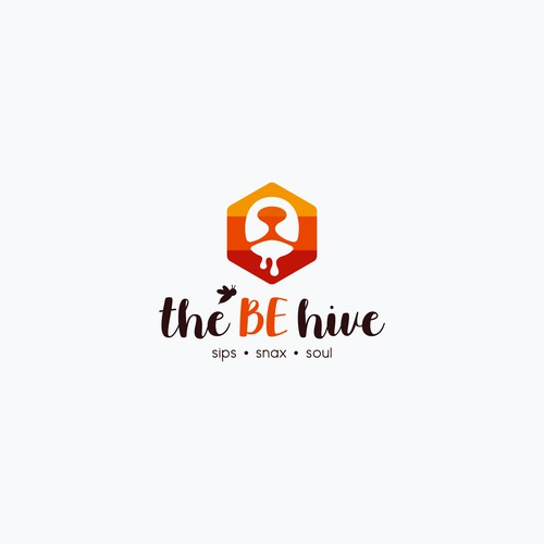 the BE hive (cafe logo design)