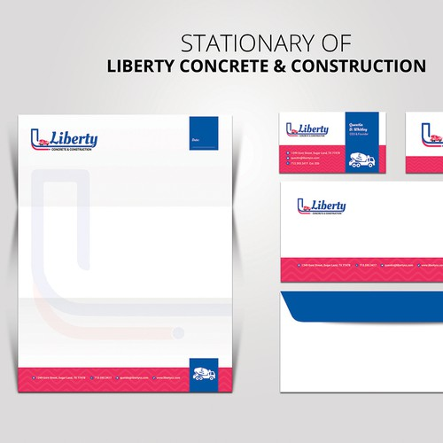 Logo and Stationary Design for Liberty Concrete & Construction