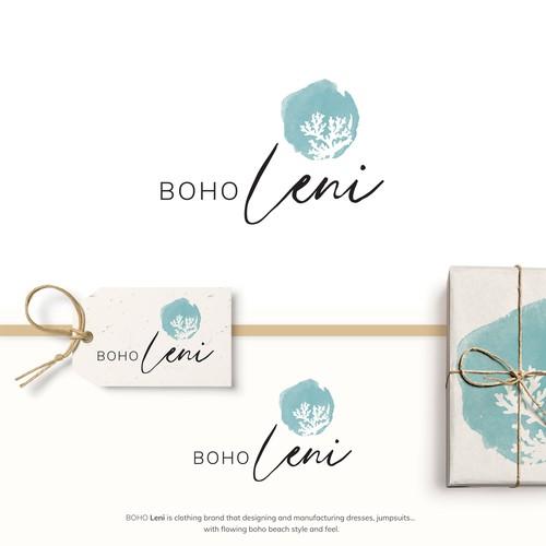 Boho Leni logo design