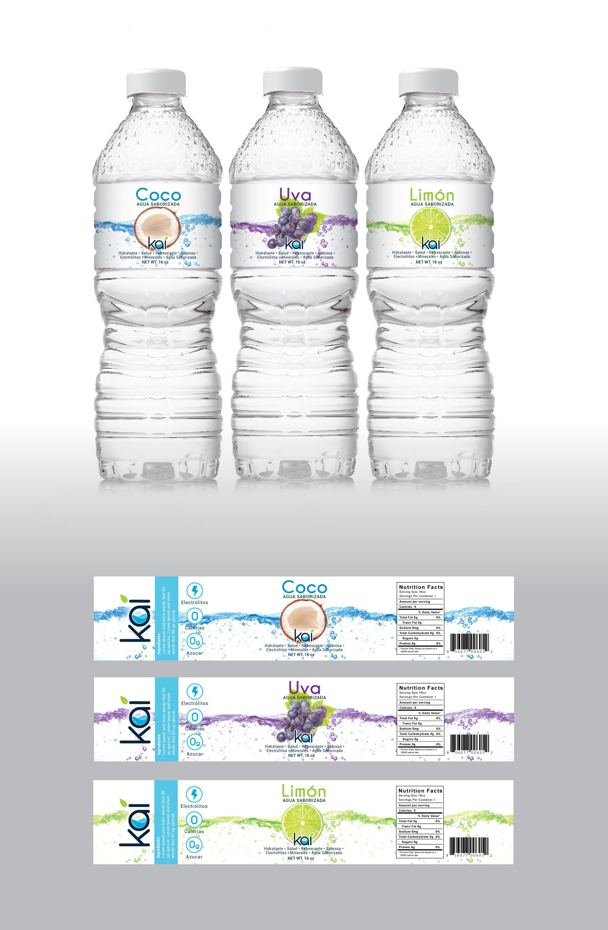 Evanti (Flavored water) - Product Labeling Design