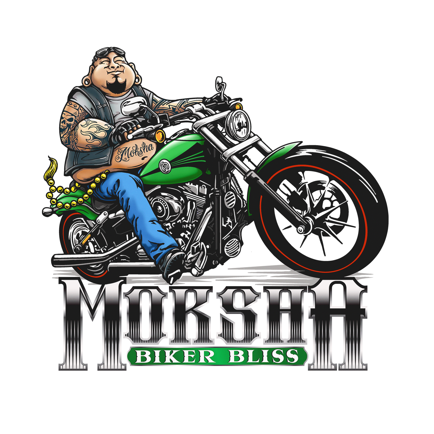 Can you improve our Badass Buddha Biker? Please read the notes for details.