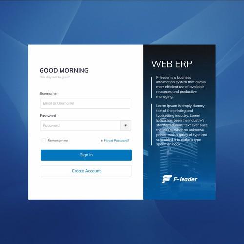 Web ERP UI Design